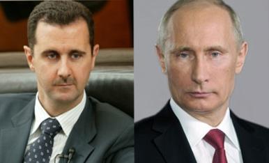 پیام تبریک سال نو پوتین به اسد/ تاکید بر حمایت از دمشق