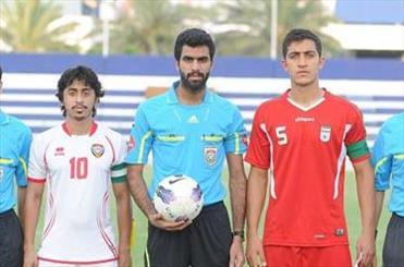 تیم فوتبال جوانان ایران برابر امارات متوقف شد