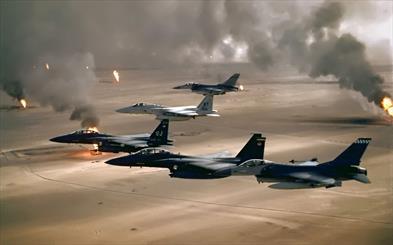 """تدمير مخزن أسلحة وأعتدة تابع لـ""""داعش"""" بضربة جوية غرب الرمادي"""
