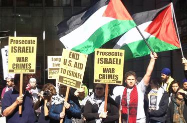 San Franciscans protest Israeli raids on Gaza