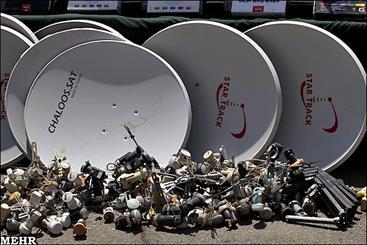 نیروی انتظامی با نصابان و فروشندگان ماهواره در کرمانشاه برخورد می کند