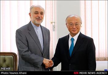 دیدارمدیر کل آژانس بین المللی انرژی اتمی با رئیس سازمان انرژی اتمی ایران