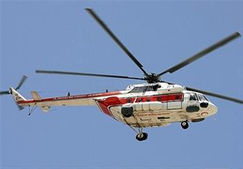 اعزام بالگرد از فرودگاه یاسوج  به محل سقوط هواپیمای ترک