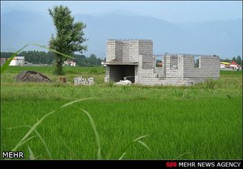 ساخت و ساز در زمین های برنج در شمال کشور(چمستان)