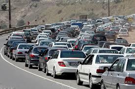 ترافیک سنگین جاده های هراز، چالوس و فیروزکوه/ افزایش ۶ درصدی تردد,