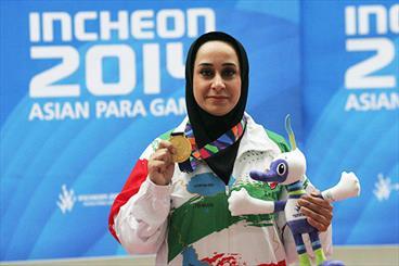 Sareh Javanmardi Asia's top female athlete in 2014