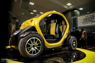 Iran unveils two-seat electric car