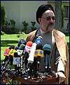 صدر سيد محمد خاتمي اور انكي كابينہ كا آج صبح ذرائع ابلاغ سے آخري خطاب (1): تصويري رپورٹ