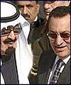 رايزني ملك عبدالله و مبارك درباره فلسطين