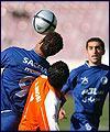 تقرير مصور عن مباراة استقلال وسايبا بكرة القدم (1)