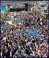 تظاهرات احتجاجية في تركيا ضد زيارة رئيس وزراء الكيان الصهيوني