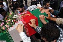 مراسم تشييع و وداع با شهيد گمنام در روستاي ده زيار کرمان برگزار می شود