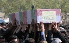 پیکر مطهر 2 شهید گمنام در ریگان تشییع شد