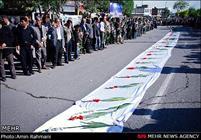 تشییع شهدای گمنام هشت سال دفاع مقدس در تاکستان