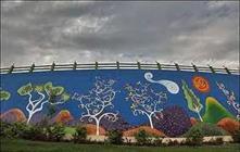 نماها و دیوارهای شهری محله فرحزاد زیباسازی شد