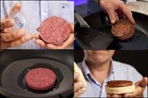 تصاویری از سرو همبرگر آزمایشگاهی/ مزه اولین گوشت تولید شده در آزمایشگاه