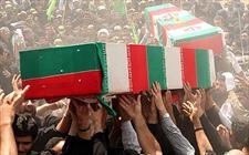 پیکر دو شهید گمنام در چابکسر به خاک سپرده شد
