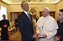 اوباما با پاپ دیدار کرد