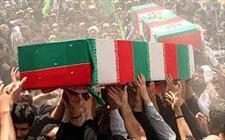 تشییع پیکر پاک دو شهید گمنام در شهرستان بهارستان