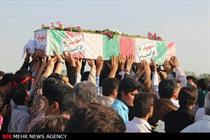 پیکر مطهر دو شهید گمنام در شهر وحدتیه خاکسپاری شد