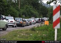 ترافیک جاده چالوس و تنکابن