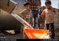 دو هفته بیآبی در گرمای شدید جنوب کرمان/ حمام در استخرهای کشاورزی