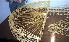 رقابت ۴۱ سازه ماکارونی دانشجویان کشور در دانشگاه سمنان آغاز شد