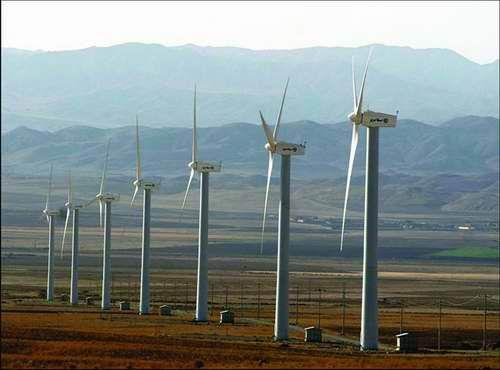 پروژه بررسی نیروگاه های بادی در ایران