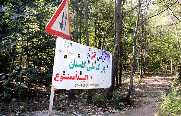عبور جاده از پارک ملی گلستان