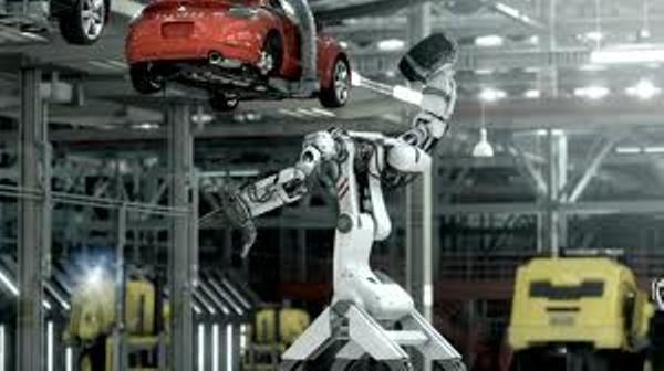 روبات کارخانه خودرو بی.ام.و