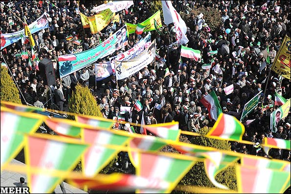 راهپیمایی یوم الله 22 بهمن در اصفهان | Www.FarsiMode.Com