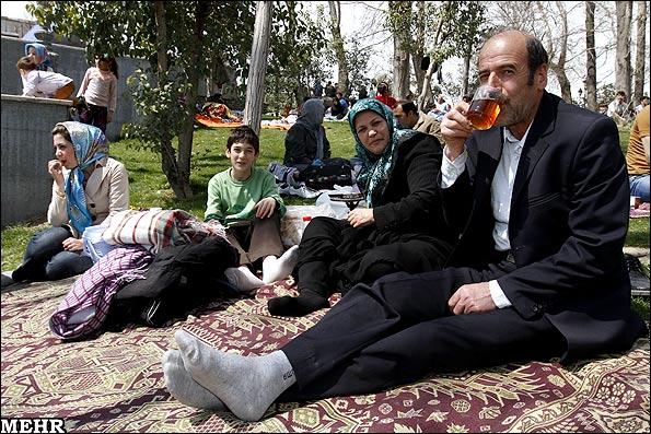 عکس هاي سيزده بدر در بوستان ملت تهران