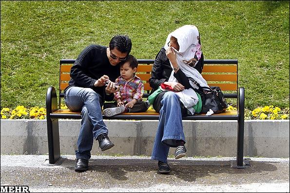 عکسهای سیزده بدر در بوستان ملت تهران