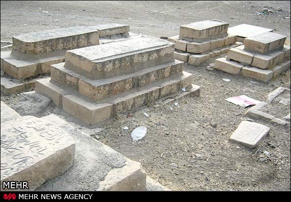 سنگ قبرهای پلکانی قبرستان روستای ابوالوفا